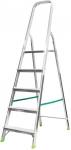Лестница - стремянка, алюминиевая, 5 ступени, вес 4,0 кг, FIT, 65353