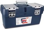 Ящик для инструментов синий + карман, металлические замки № 16, TAYG, 116001